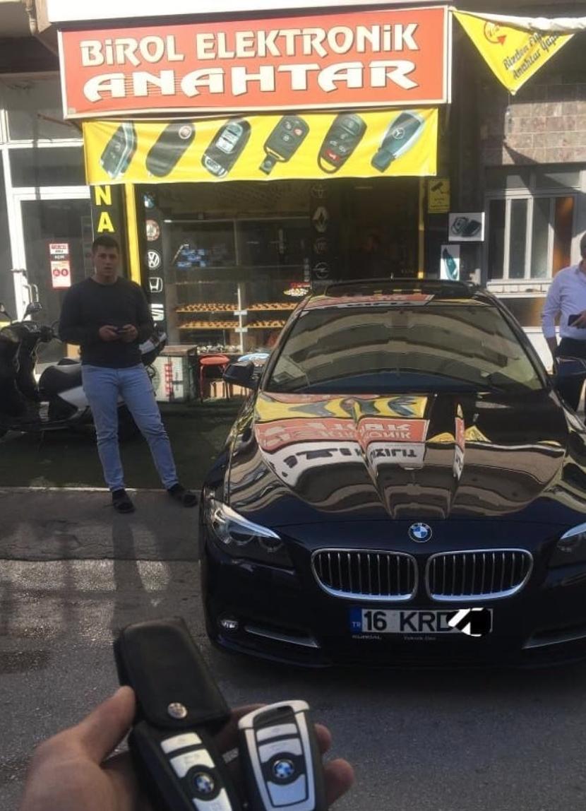 BMW 5.20 F10 Kasa Anahtar Kopyalama Yedek Anahtar