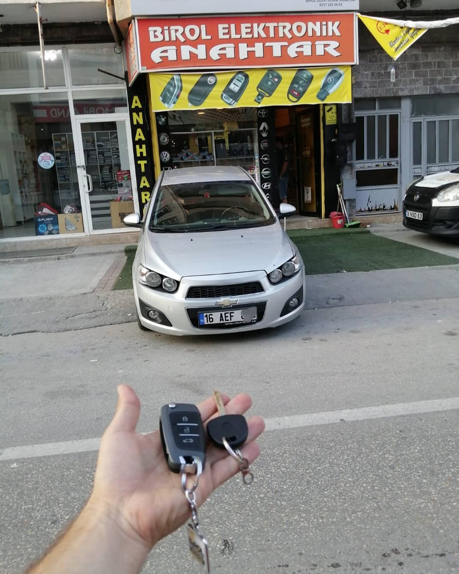Chevrolet Aveo Anahtar Kopyalama Yedek Anahtar