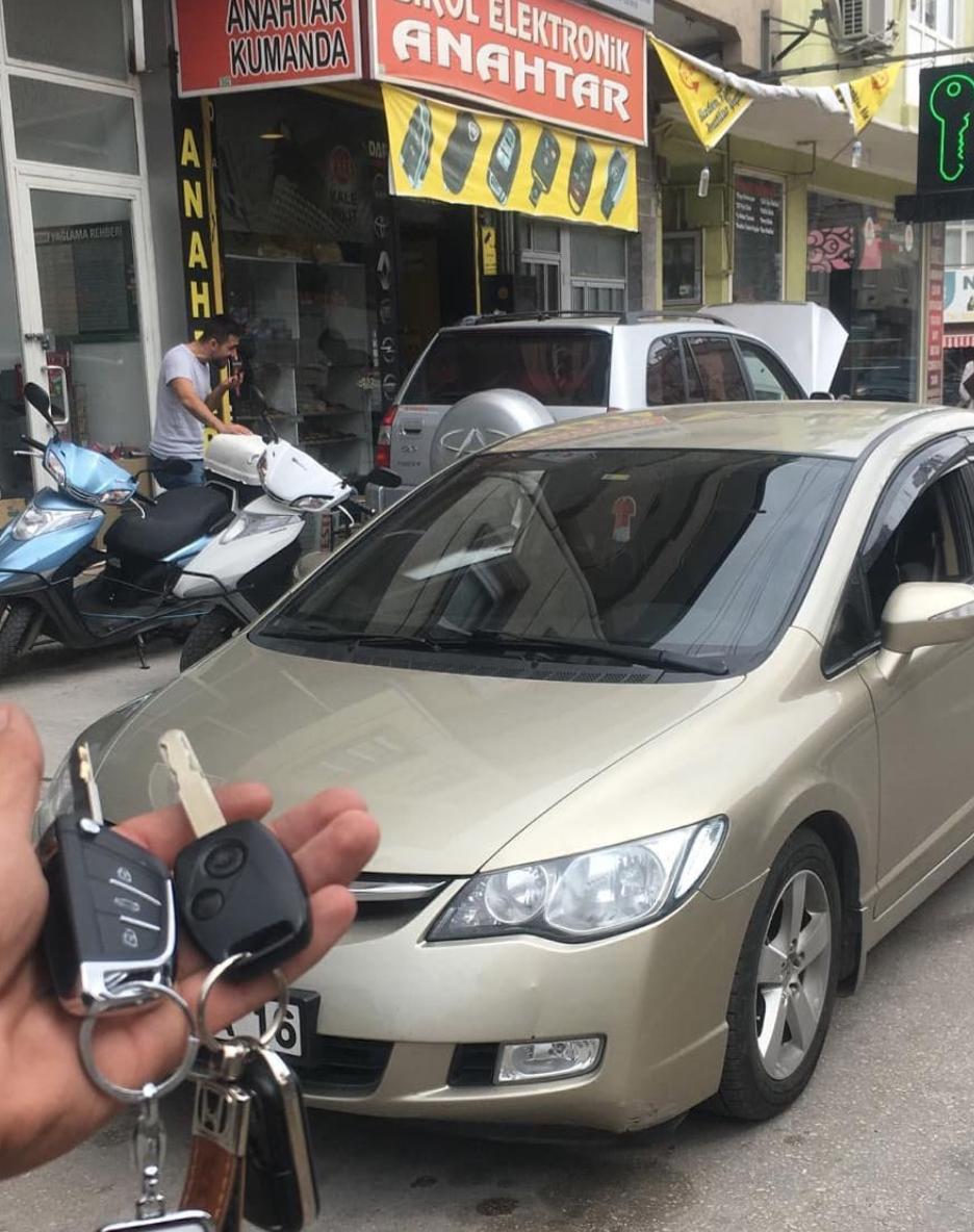 Honda Civic Anahtar Kopyalama Yedek Anahtar