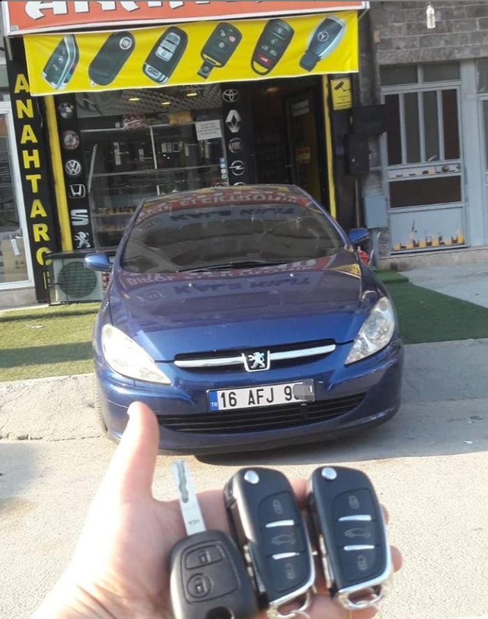 Peugeot 307 Anahtar Kopyalama Yedek Anahtar
