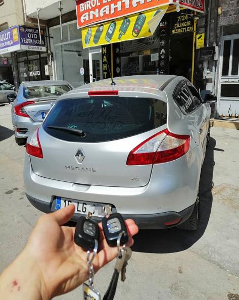 Renault Megane 3 Anahtar Kopyalama Yedek Anahtar