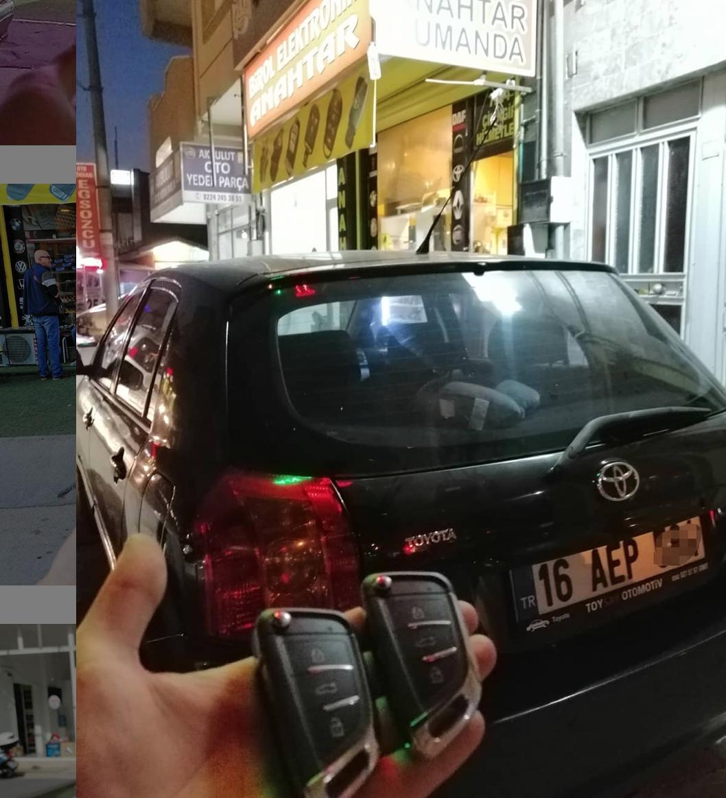 Toyota Yaris Anahtar Kopyalama Yedek Anahtar