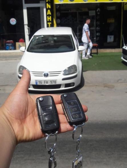 Volkswagen Golf Anahtar Kopyalama Yedek Anahtar
