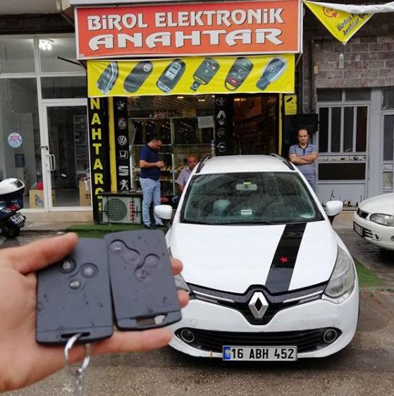 Clio 4 Kart Kopyalama Yedek Kart
