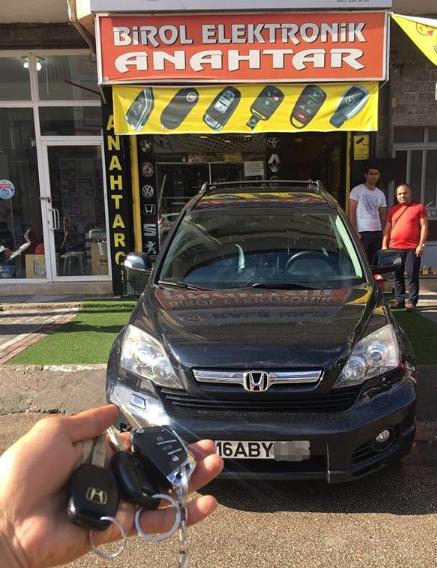 Honda C-RV Anahtar Kopyalama Yedek Anahtar