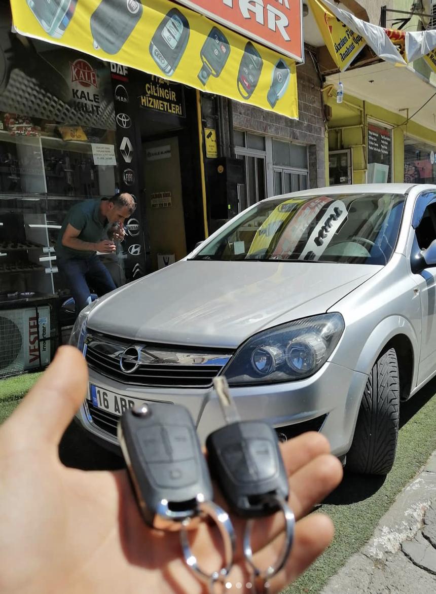 Opel Astra H Anahtar Kopyalama Yedek Anahtar