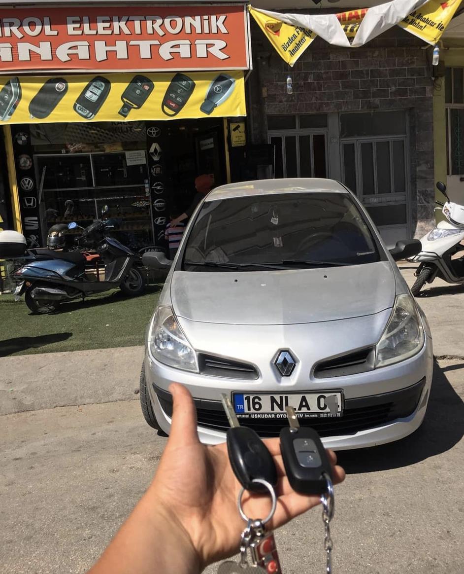 Clio 3 anahtar kopyalama yedek anahtar