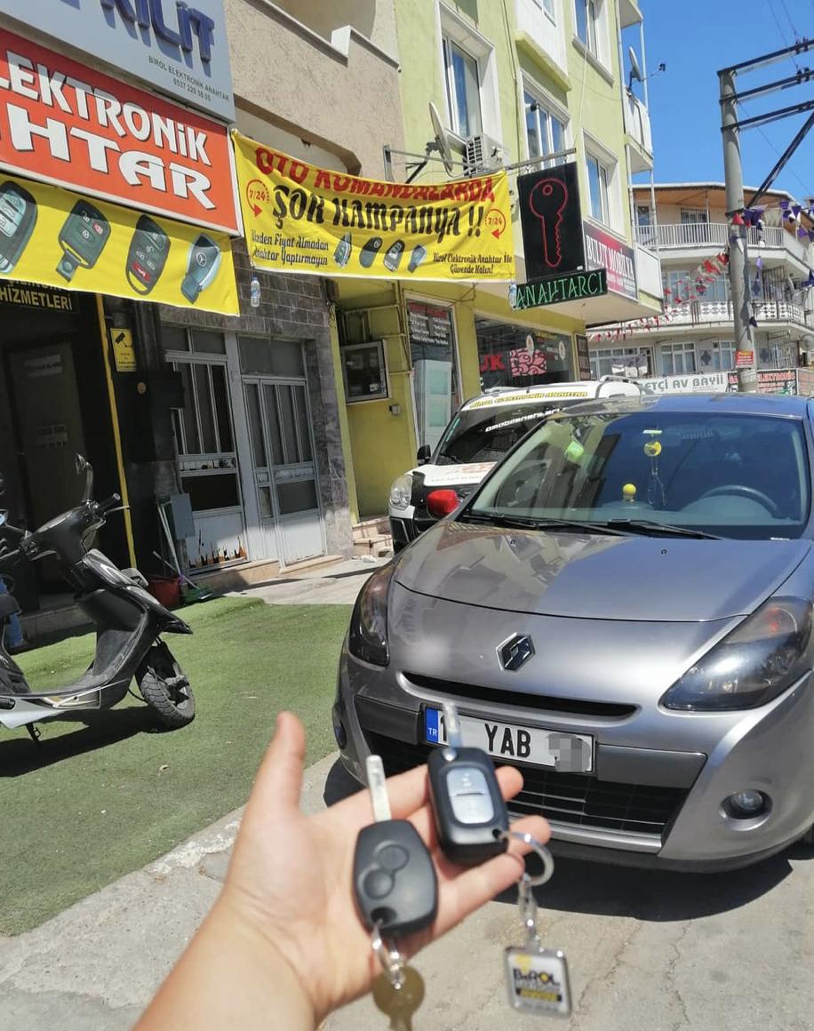 Renault Clio 3 Anahtar Kopyalama Yedek Anahtar