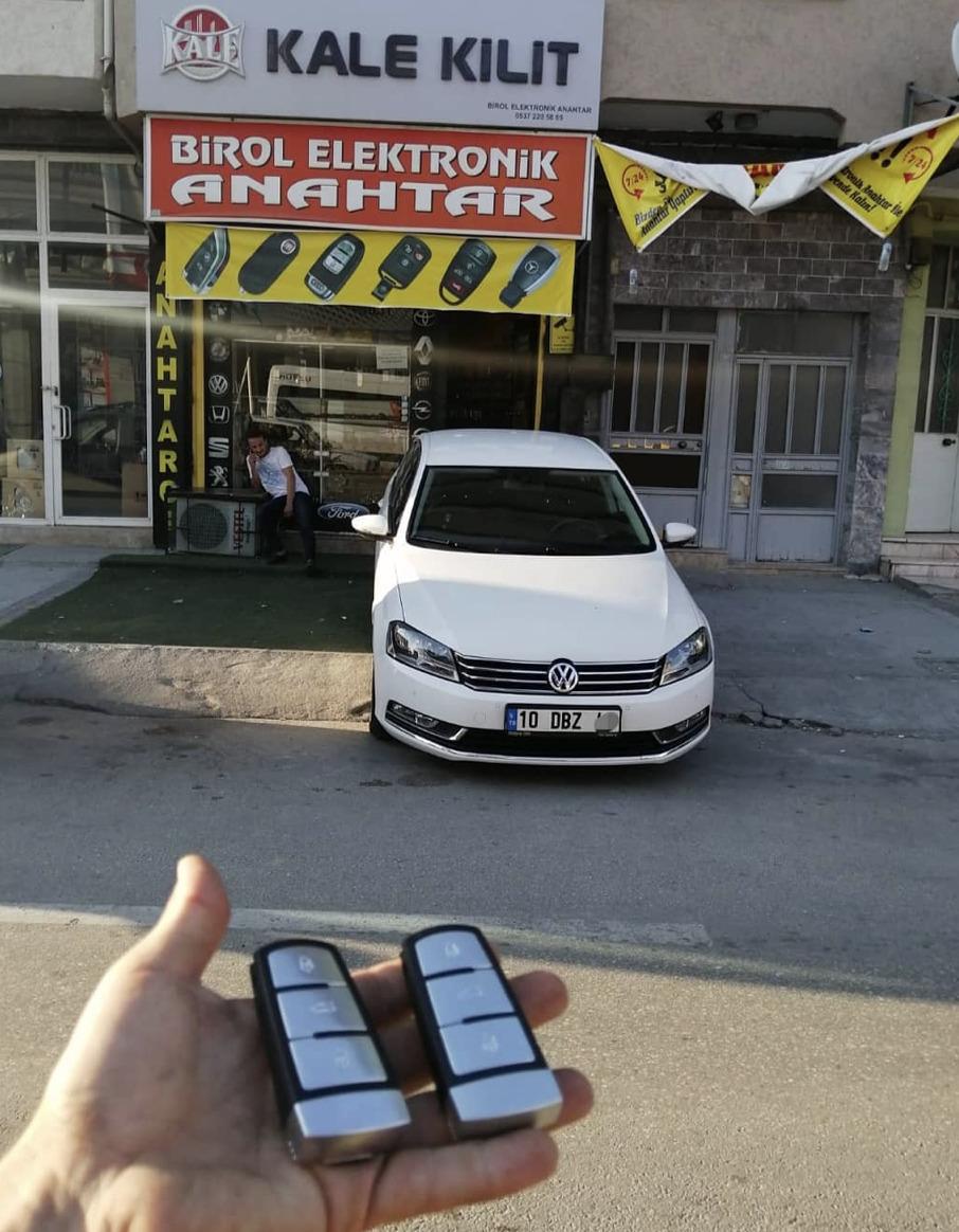 Volkswagen Passat Anahtar Kopyalama Yedek Anahtar