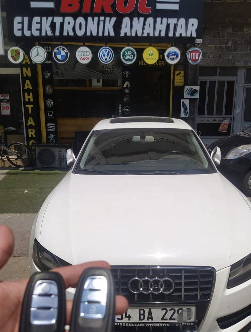 Audi a5 anahtar kopyalama yedek anahtar