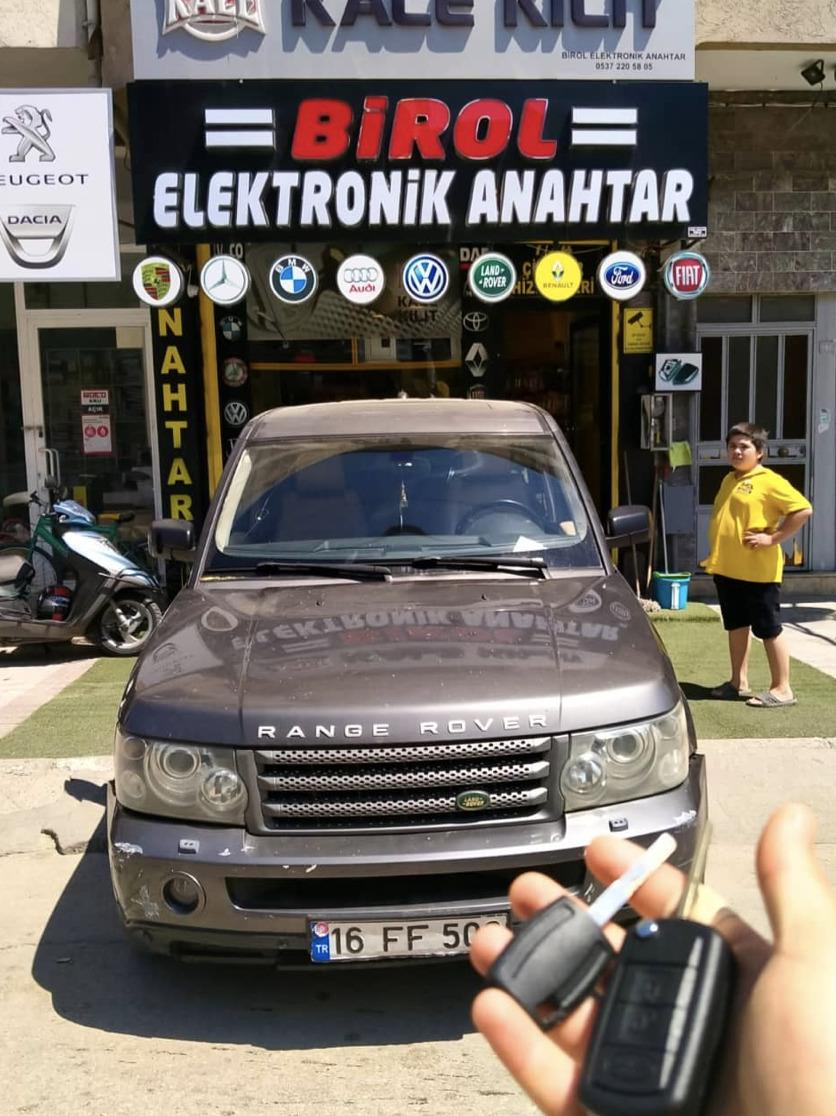 Range Rover Anahtar Kopyalama Yedek Anahtar