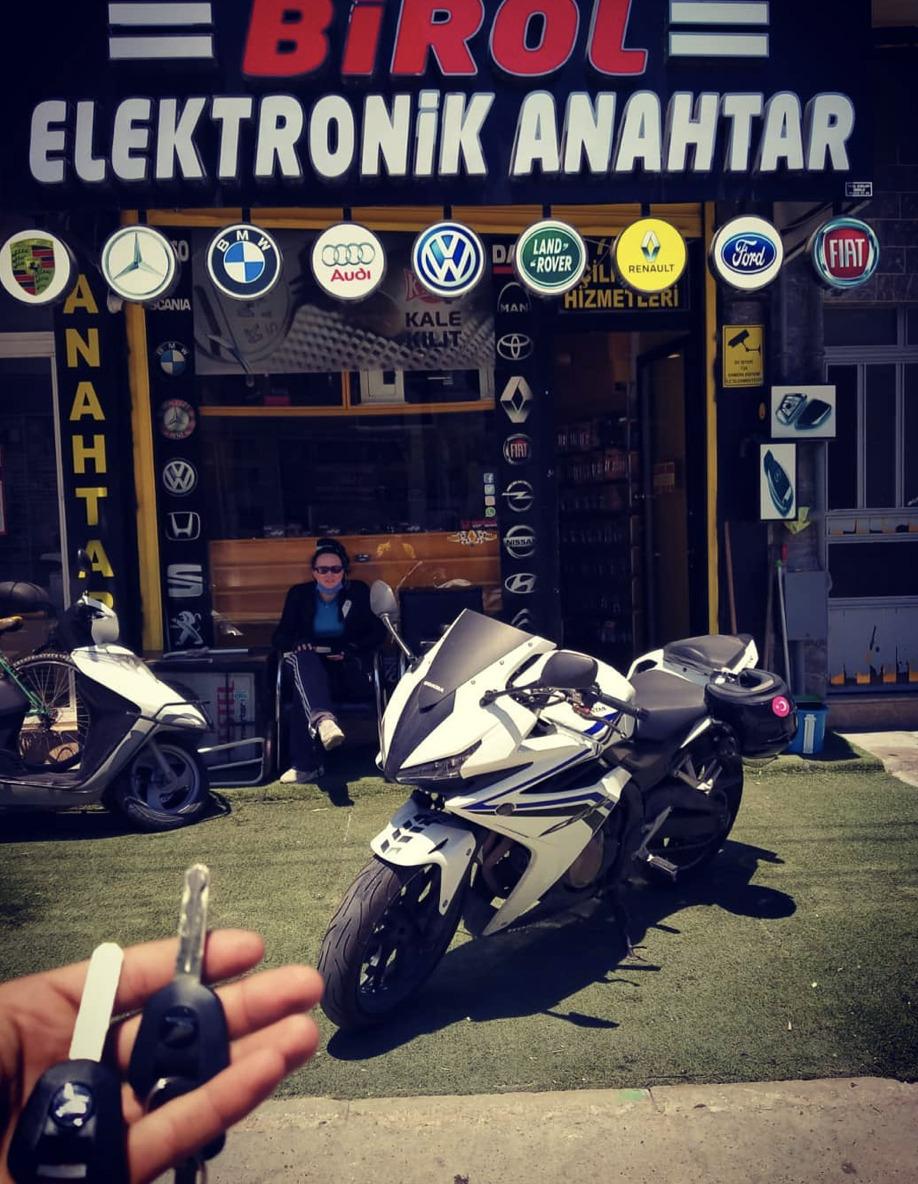 (Turkish) Honda CBR 500R Anahtar Kopyalama Yedek Anahtar