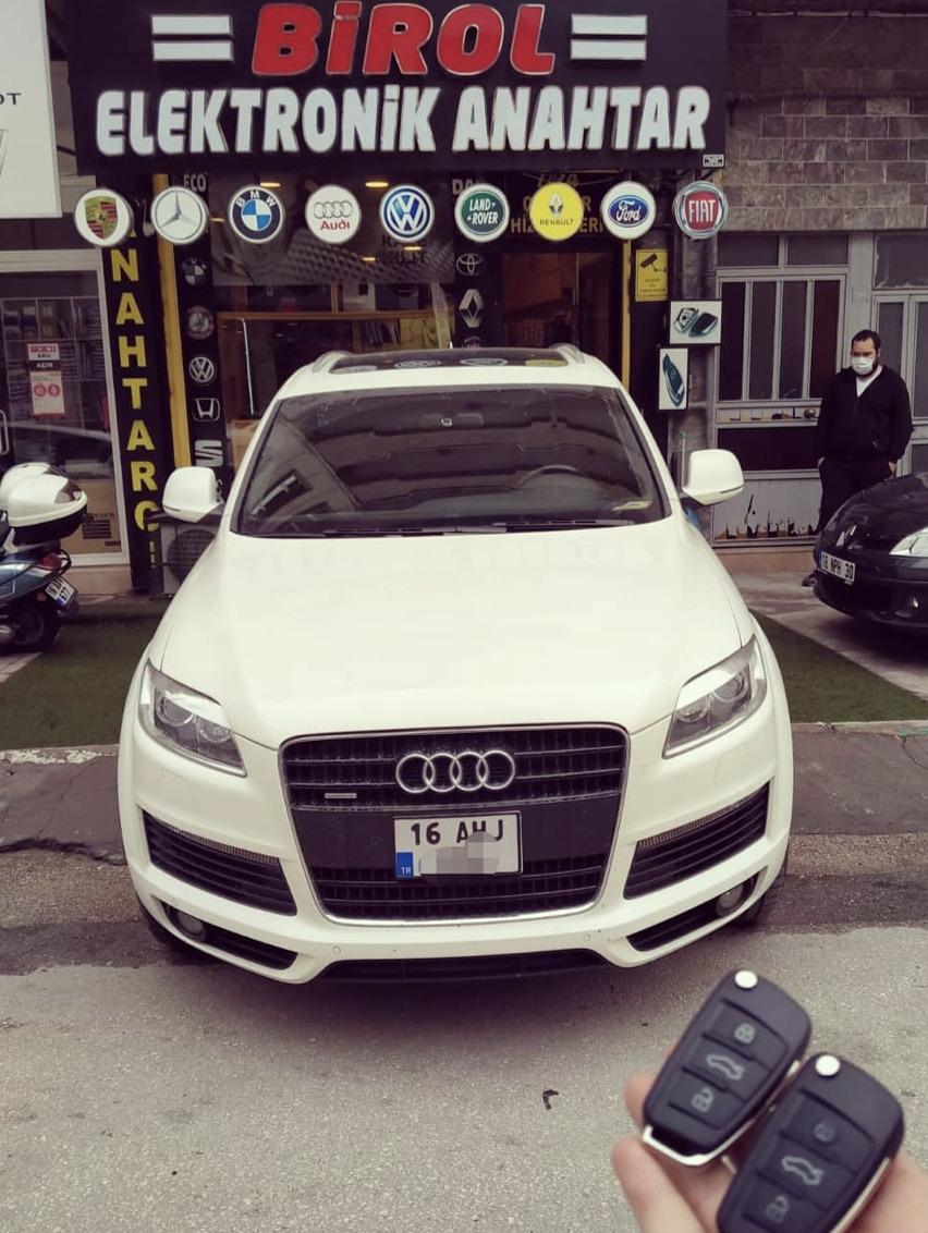 Audi Q7 Anahtar Kopyalama Yedek Anahtar