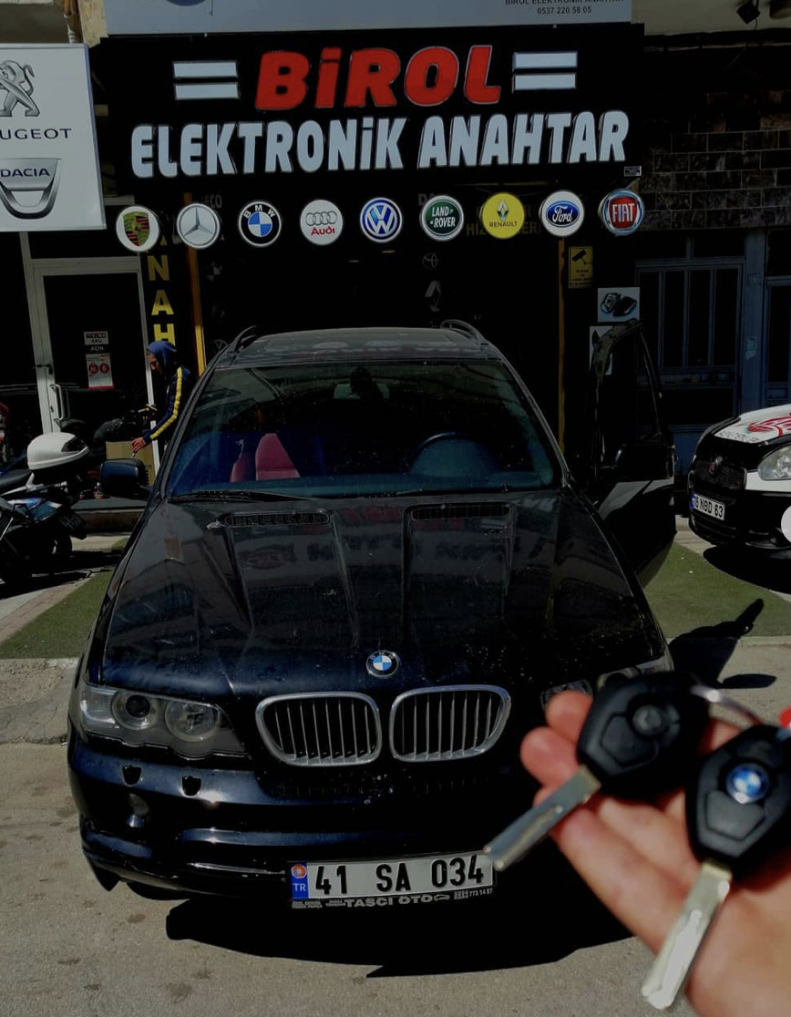 BMW X5 Anahtar Kopyalama Yedek Anahtar
