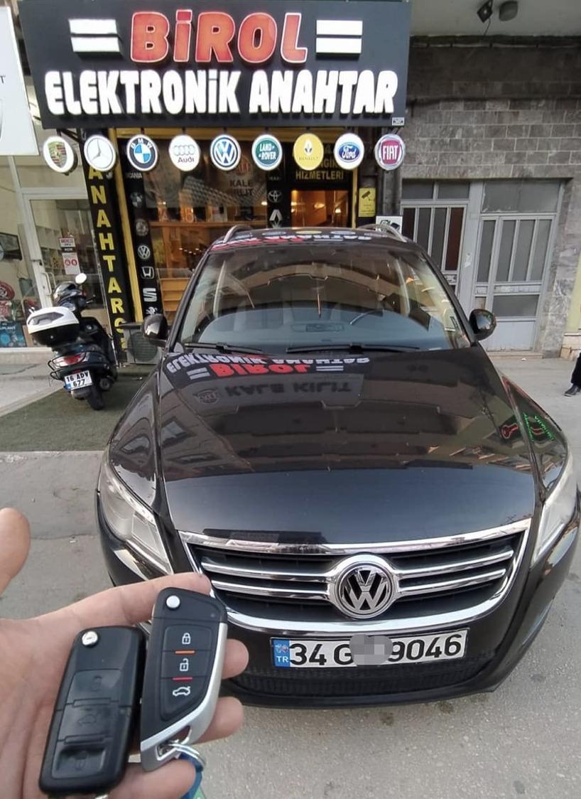 Volkswagen Tiguan Anahtar Kopyalama Yedek Anahtar